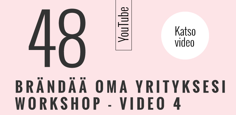 Brändää oma yrityksesi workshop 4