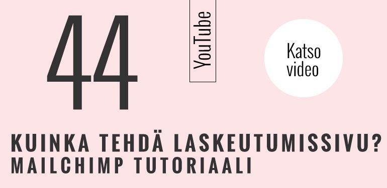 mailchimp tutoriaali