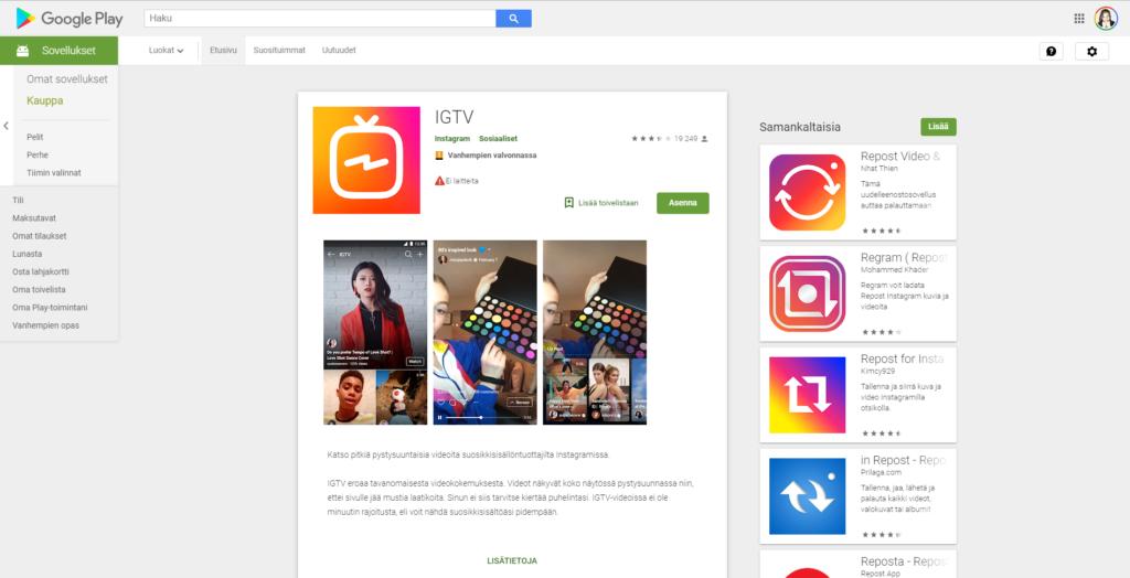 Kuinka toteuttaa swipe up Instagramissa | IGTV asennus