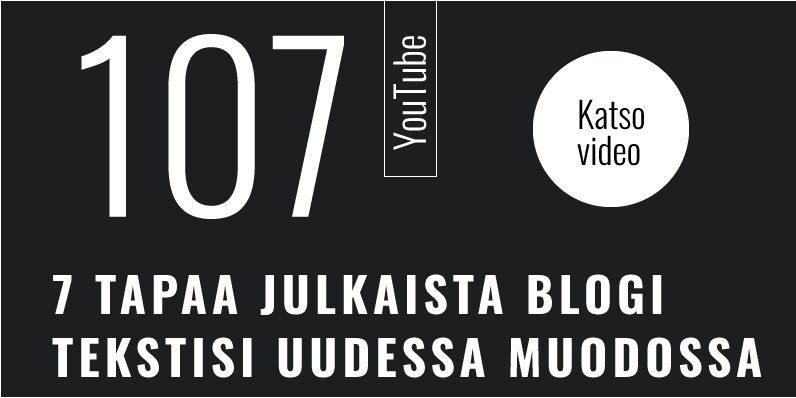 7 tapaa julkaista blogiteksti uudessa muodossa