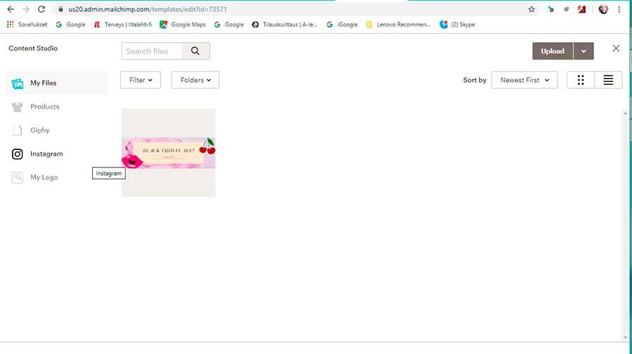 MailChimp | tiedostosi